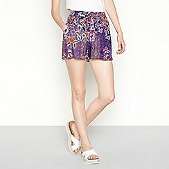Red Herring - Multi-coloured floral print loose fit shorts