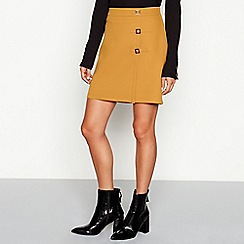 Red Herring - Gold buckle detail ponte mini skirt