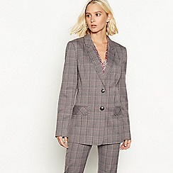 Red Herring - Multicoloured check print blazer