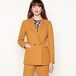 Red Herring - Gold double breasted longline blazer