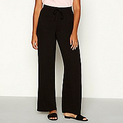 Red Herring - Black top stitch chiffon loose fit high waist trousers
