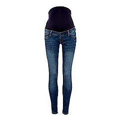 Red Herring - Blue Dark Wash Skinny Fit Maternity Jeans