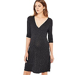 Red Herring Maternity - Black spot print jersey mini maternity dress