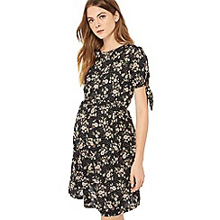 Red Herring Maternity - Multicoloured floral print jersey knee length maternity dress