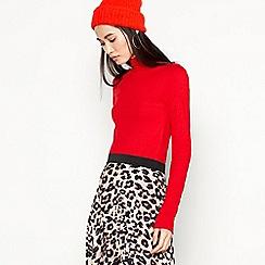 Red Herring - Red Chunky Rib Top