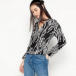 Red Herring - Black Zebra Print Blouse