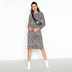 Red Herring - Multicoloured Leopard Print Cotton Dress