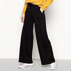 Red Herring - Black Luxe High Waisted Utility Jogger
