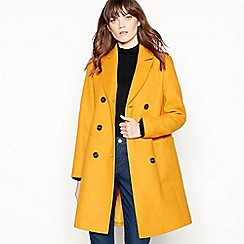Red Herring - Yellow utility double breasted coat