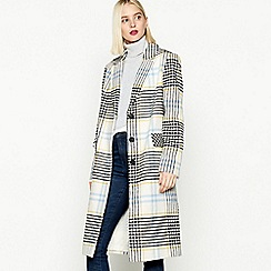 Red Herring - Multicoloured Check Print Coat