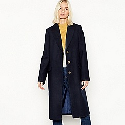 Red Herring - Navy 'Melton' single breasted city coat