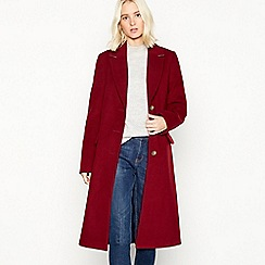 Red Herring - Burgundy 'Melton' single breasted city coat