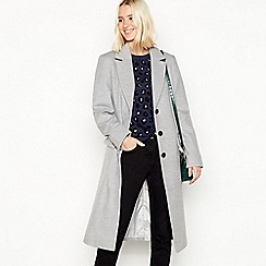 Red Herring - Grey 'Melton' single breasted city coat