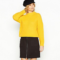 Red Herring - Yellow chunky knit jumper