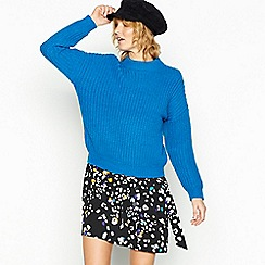 Red Herring - Blue chunky knit jumper