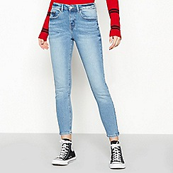 Red Herring - Blue High Twill Light Wash 'Holly' Ankle Grazer Skinny Jeans