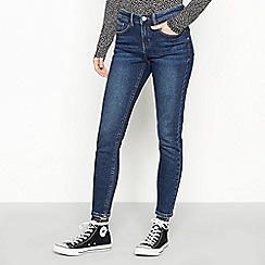 Red Herring - Blue High Twill Dark Wash 'Holly' Ankle Grazer Skinny Jeans