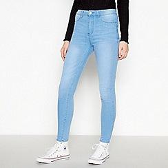 Red Herring - Blue light wash 'Heidi' high waisted skinny jeans