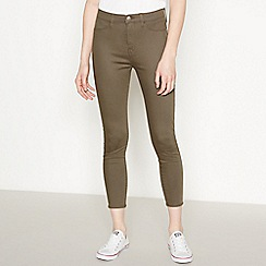 Red Herring - Khaki 'Heidi' Ankle Grazer Skinny Jeans