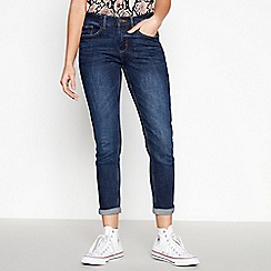 Red Herring - Blue Dark Wash 'Chloe' Relaxed Girlfriend Jeans