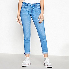 Red Herring - Blue Mid Wash 'Chloe' Relaxed Girlfriend Jeans