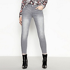 Red Herring - Grey light wash 'Holly' ankle grazer skinny jeans