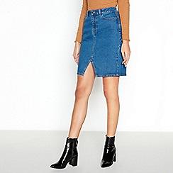 Red Herring - Dark Blue Mini Denim Skirt