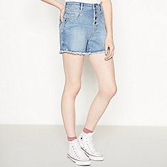 Red Herring - Light Blue 'Carly' Denim Mom Shorts
