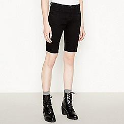 Red Herring - Black Denim Cycling Shorts