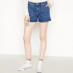 Red Herring - Blue Contrast Stitch Utility Shorts