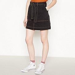 Red Herring - Black Denim Mini Skirt