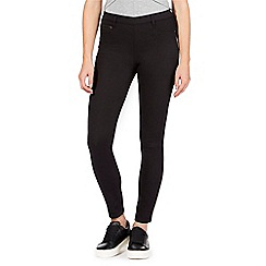 Red Herring - Black 'Georgia' pull-on jeggings