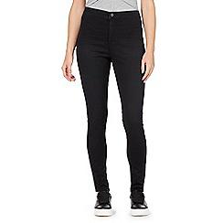 Red Herring - Black 'Heidi' ultra-stretch high-waisted skinny jeans