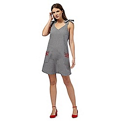 Red Herring - Black gingham pini dress