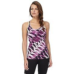 Red Herring - Purple printed vest top