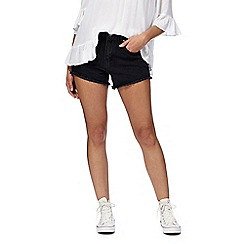 Noisy may - Black 'Liv' straight leg shorts