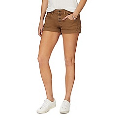 G-Star - Khaki button denim shorts