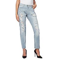 Wrangler - Light blue washed boyfriend fit jeans