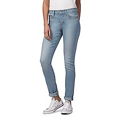 Levi's - Blue 311 mid-wash skinny jeans