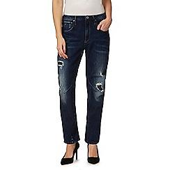 G-Star - Dark blue distressed boyfriend jeans