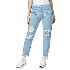 Noisy may - Light blue wash distressed 'Eve' super skinny jeans
