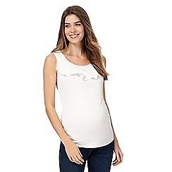 Red Herring Maternity - White frill neck top