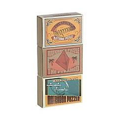 Professor Puzzle - Set of three matchbox puzzles