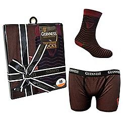 Guinness - Black & red boxer and socks gift set