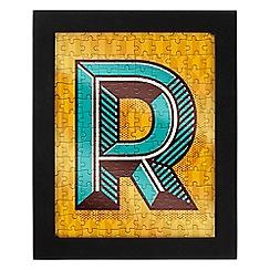 Wild & Wolf - Letter R jigsaw & frame