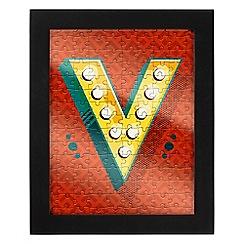 Wild & Wolf - Letter V jigsaw & frame