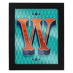 Wild & Wolf - Letter W jigsaw & frame