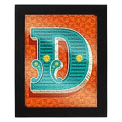Wild & Wolf - Letter D jigsaw & frame
