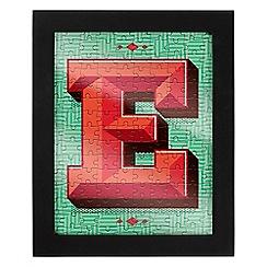 Wild & Wolf - Letter E jigsaw & frame