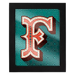 Wild & Wolf - Letter F jigsaw & frame
